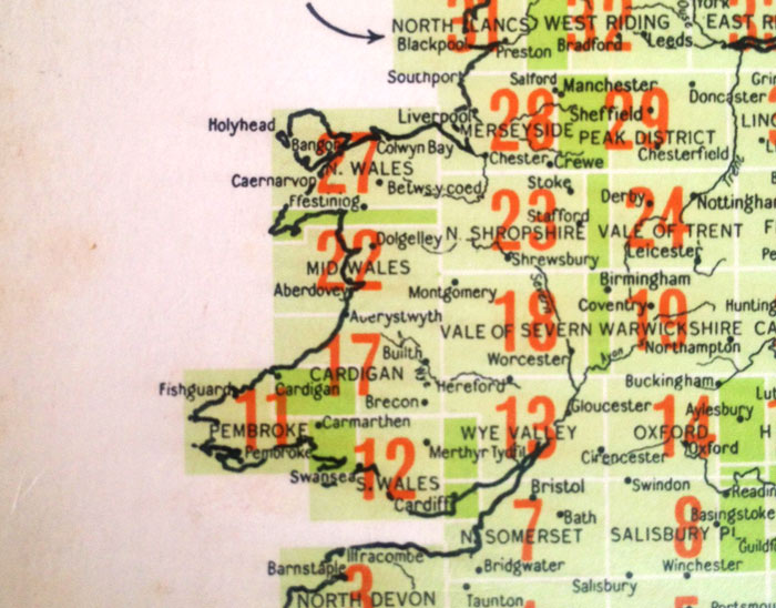 Nice old map of Wales