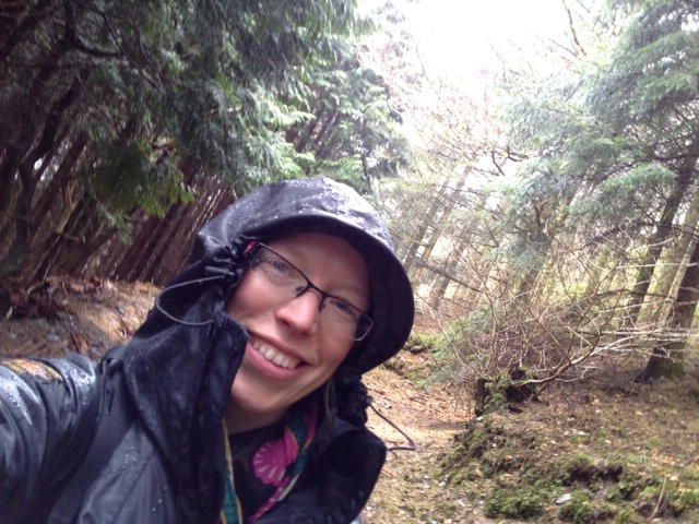 Me in the rain