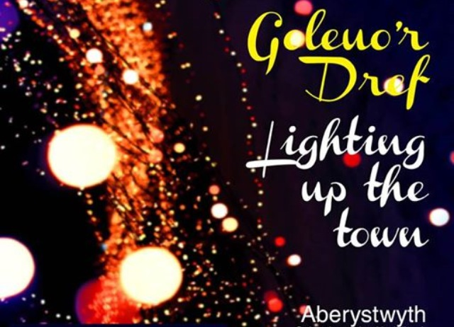 'Goleuo'r Dref/ Lighting up the town' flier