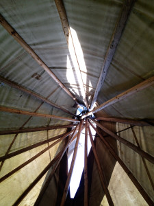 The tipi at Chicken Shack