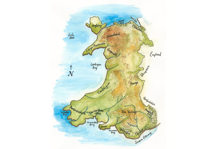 Wales-map